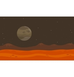 On planet desert landscape vector