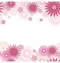 Pink flower background vector image vector image