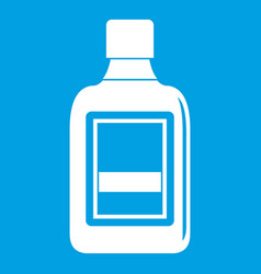 plastic bottle icon white vector image vector image