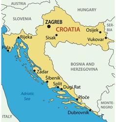 Republic of croatia - map vector