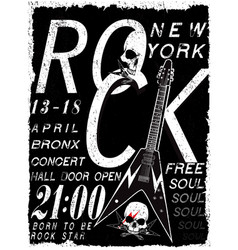 Rock poster vintage rock and roll typographic for vector
