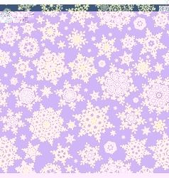 Seamless christmas snowflake pattern eps 10 vector
