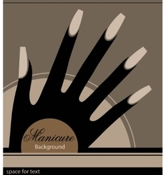 The stylized hand with a manicure vector image