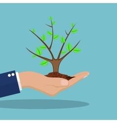 Tree in hand vector image