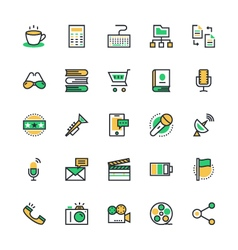User Interface and Web Colored Icons 7 vector image vector image