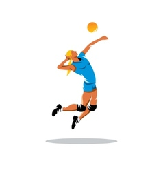Volleyball player sign vector image vector image