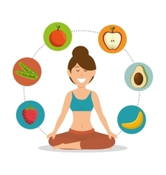 woman healthy food lifesytle vector image