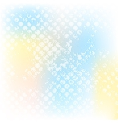 Colorful grunge halftone design vector