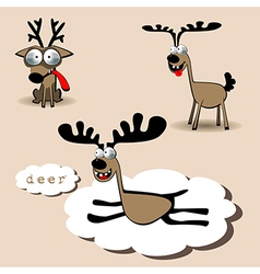 Deer smile vector