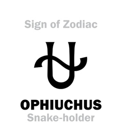 Astrology sign of zodiac ophiuchus the snake vector