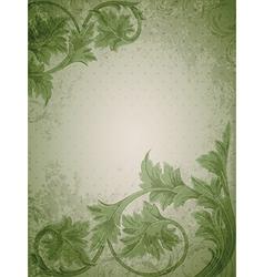 vintage floral green vector image
