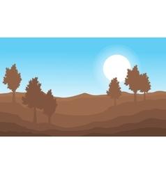 Nature landscape on brown vector