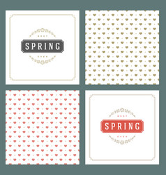Spring typographic posters or greeting vector