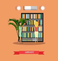 College or university library vector