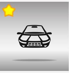 car black icon button logo symbol vector image