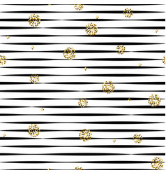 striped black and white seamless pattern with vector image