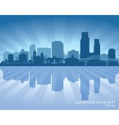 Corpus Christi Texas city skyline silhouette vector image