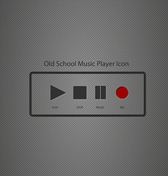 Old school music player icon vector