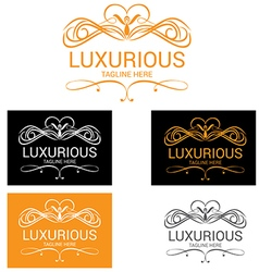 Luxurious logo vector