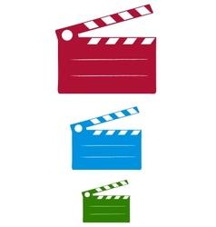 cinema slate vector image