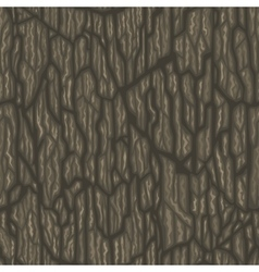 Seamless cartoon tree bark texture vector