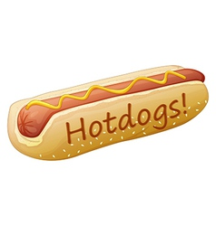 A yummy hotdog vector