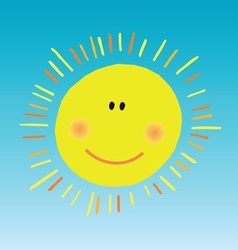 Abstract smiling sun vector