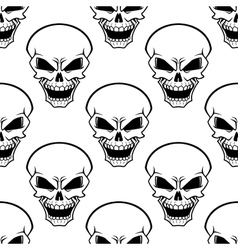 Aggressive skulls seamless pattern background vector image