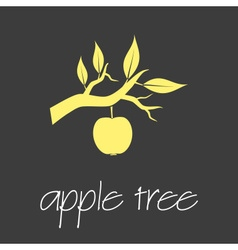 apple tree symbol simple business banner eps10 vector image