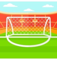 Background of soccer stadium vector