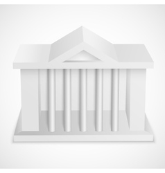 Bank icon building vector