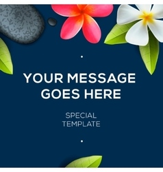 Botanical background with flowers Frangipani vector image vector image