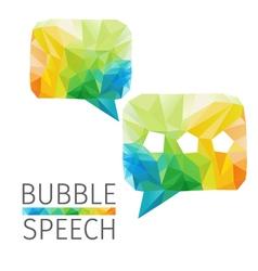 bubble speech polygon vector image vector image