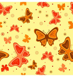 butterfly seamless vector image vector image