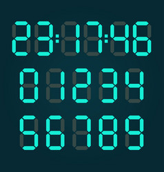 calculator digital numbers vector image
