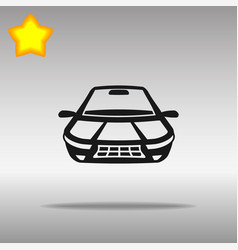 car black icon button logo symbol vector image vector image