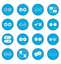 Check mark icon blue vector