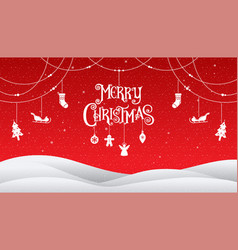 christmas and happy new year 2018 typography vector image vector image