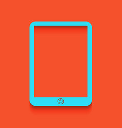 Computer tablet sign whitish icon on vector