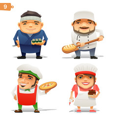 cooking professions set vector image vector image