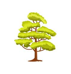Decorative green tree icon vector
