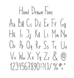Doodle font vector