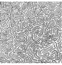 doodle hand drawn pattern for coloring book vector image