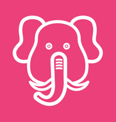 Elephant face vector