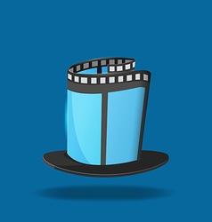 Film hat magic movie icon vector