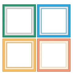 Frameworks in pastel colors vector