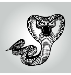 Handdrawing doodle Snake Wildlife collection vector image