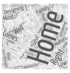 Home theater practicalities word cloud concept vector