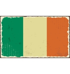 Irish grunge flag vector image vector image