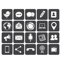 Media communication icons vector image vector image